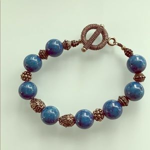 Jewelry - Blue lapis bead bracelet.